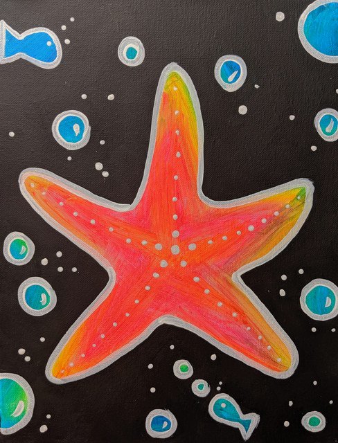 Glow Starfish Kids 11X14