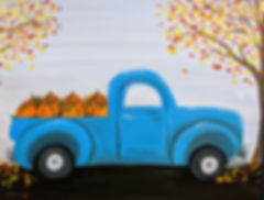 Retro Truck in Fall