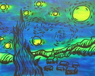 Glow Starry Night 16X20