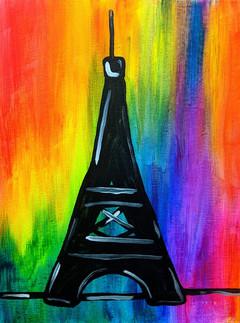 Glow Eiffel tower Small Kids 11X14