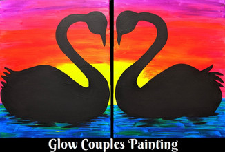 Coupls glow swans 16X20