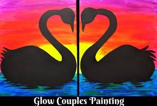 Couples Glow Swans
