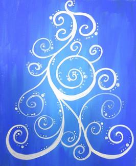 Tree of Curls blue