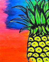 Glow Pineapple 16X20