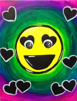 Glow Emoji Hearts 11X14 Kids