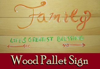 Family Blessing Wood Pallet Sign