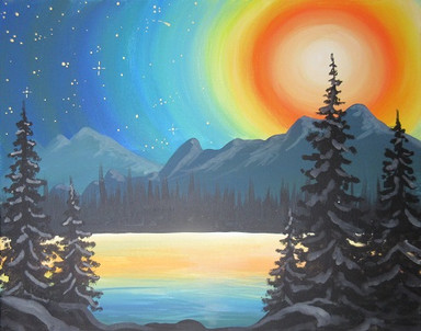 Mountain Moonlight Reflection II