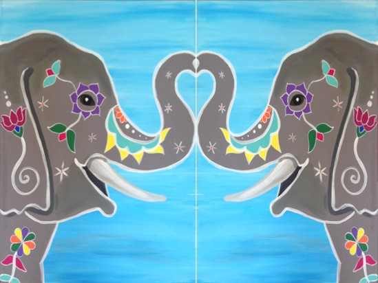 Painted Eliphants Couples