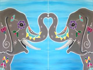 Painted Eliphants Couples