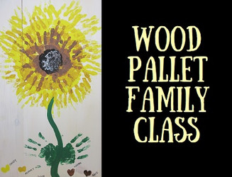 Sunflower Wood Pallet Family Class