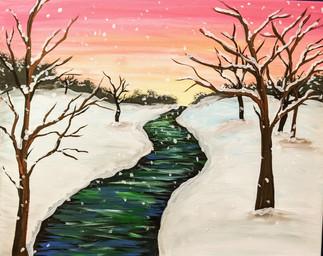 Winter sunset forest 3hr