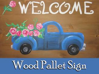 Retro Truck Wood Pallet
