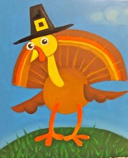 Turkey with hat