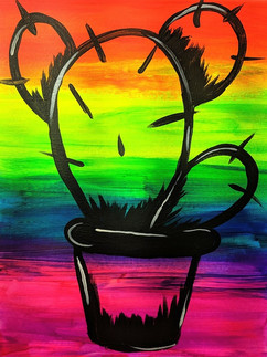 Glow Cactus Kids 11X14