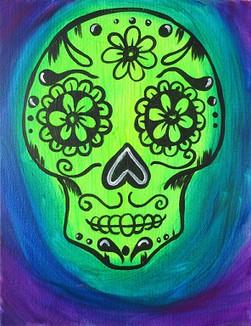 Glow Sugar Skull Kids 11X14