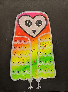 Glow Cute Owl Kids 11X14