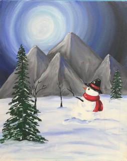 Snowman in Mountian Moon.jpeg