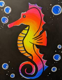 Glow Seahorse Kids 11X14