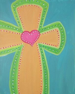 Cross in bright colors