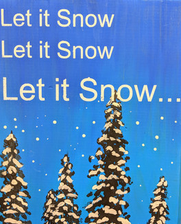 Let it Snow Wood Plaque
