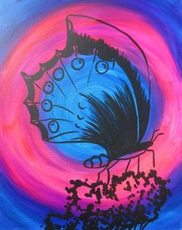 Glow Butterfly 16X20