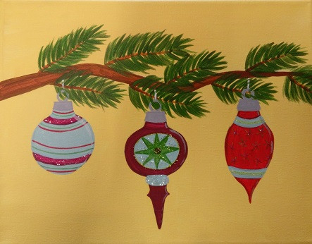 Ornaments in tree