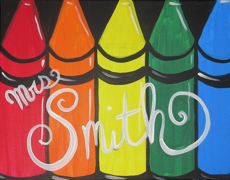 Crayons on small
