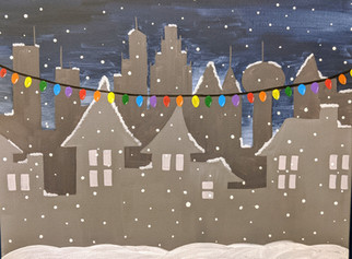 City in snow 2hr