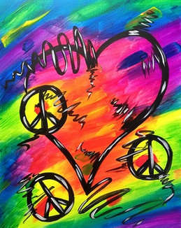 Glow Love and Peace 16X20