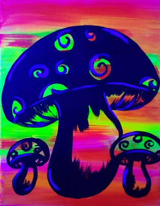Glow Mushrooms 11X14 Kids