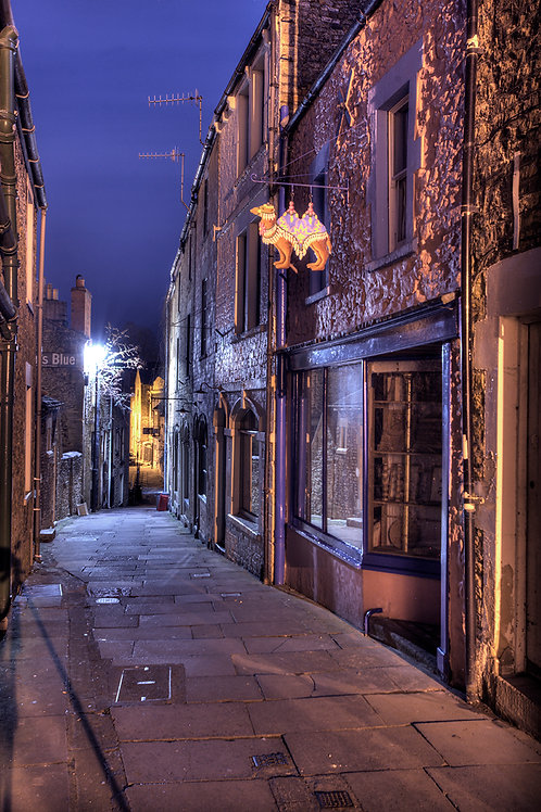 120. Frome at Night A6 greeting card with envelope