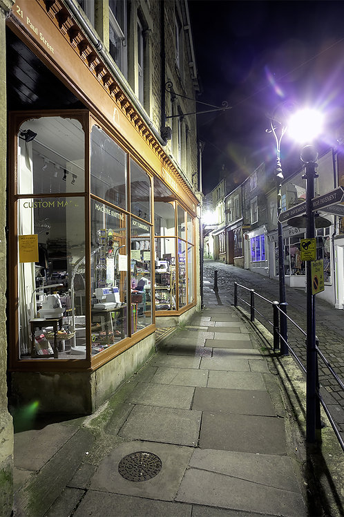 106. Frome at Night A6 greeting card with envelope