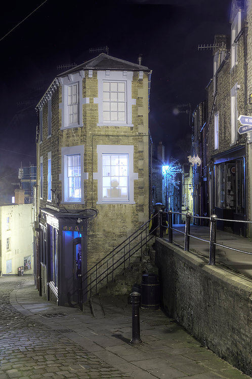 118. Frome at Night A6 greeting card with envelope