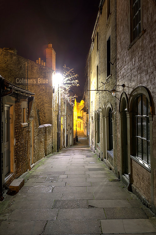 102. Frome at Night A6 greeting card with envelope
