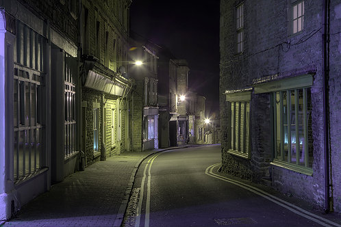 114. Frome at Night A6 greeting card with envelope