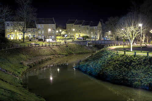 111. Frome at Night A6 greeting card with envelope