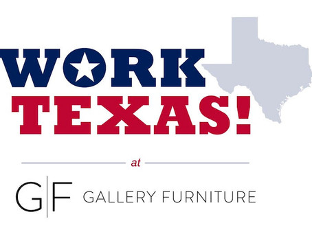 We Are Now Partnered with WorkTexas at Gallery Furniture!