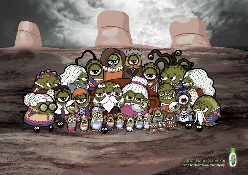Dettol Bacteria Family