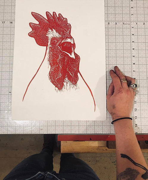 Lino-cut Printmaking