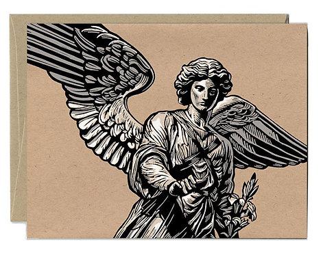 Hand Drawn Daniel Durkin Angel Card