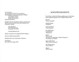 NO ARCADIA copyright page & acknowledgments