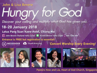 Why you should be at the Hungry for God Conference with John and Lisa Bevere in Chiang Mai, Thailand