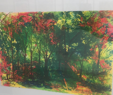 Fall in Forest by Amna Rehan