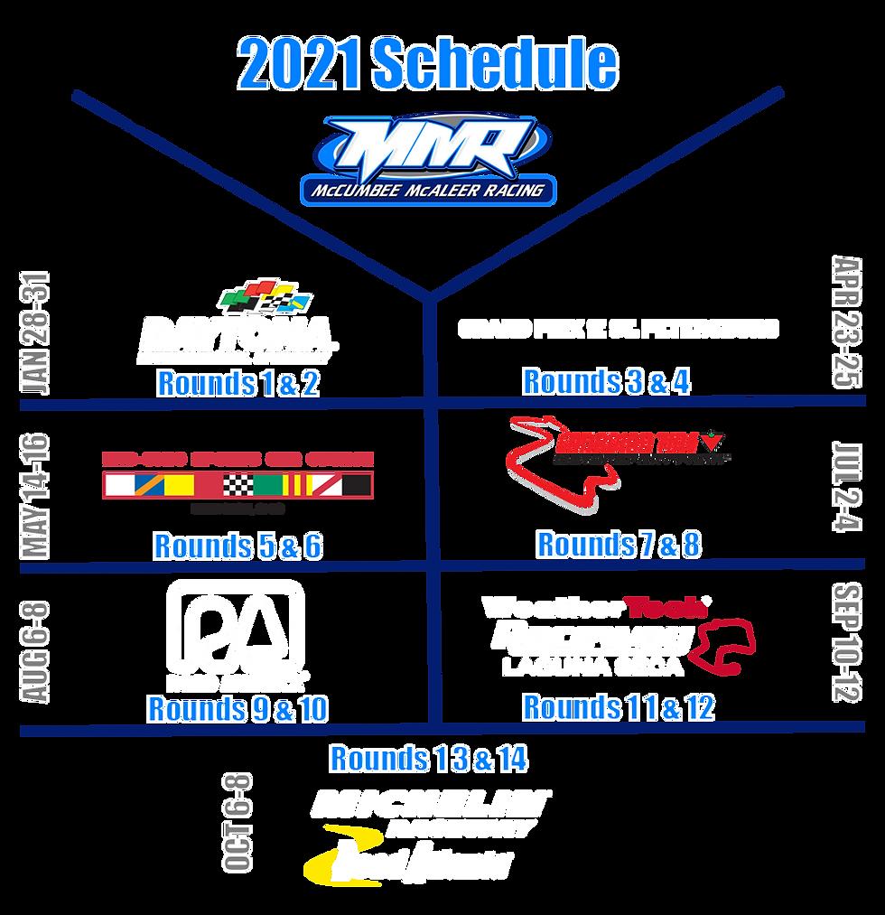 McCumbee McAleer Racing 2021 Schedule