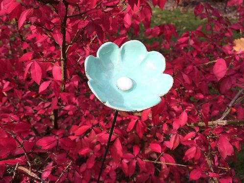 daisy ceramic handmade flower blue home and garden Christmas presents and ideas