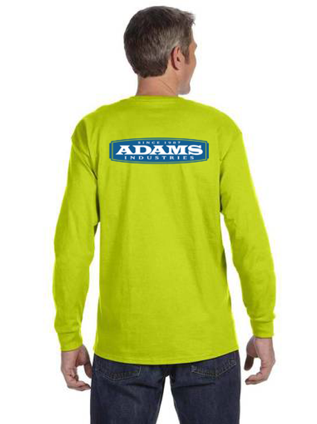 Adams Cotton Long Sleeve Safety T-Shirt