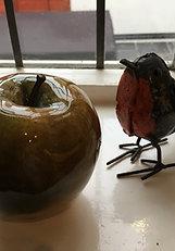 Large ceramic apple