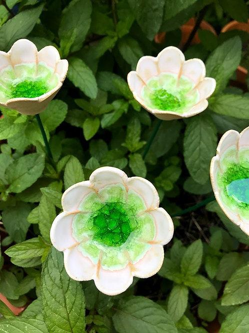Glass Flower - Green