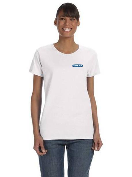 Adams Ladies Cotton T-Shirt - Small Logo