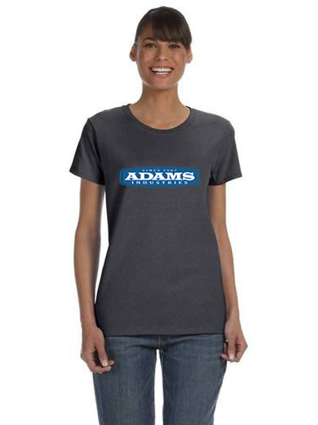 Adams Ladies Cotton T-Shirt - Full Front Logo